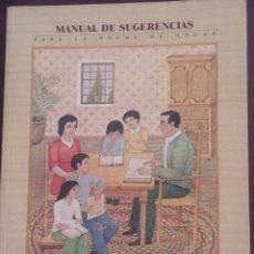 Libros de segunda mano: MANUAL DE SUGERENCIAS PARA LA NOCHE DE HOGAR. Lote 114764875