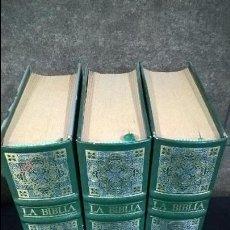 Libros de segunda mano: LA BIBLIA EDICIÓN DE LUJO EN 3 MAGNÍFICOS TOMOS ILUSTRADOS MAGISTRALMENTE POR GUSTAVO DORE. Lote 116184699