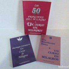 Libros de segunda mano: LOS 50 PRINCIPIOS DEL MILAGRO. UNA INTRODUCCION BASICA, PSICOLOGIA CRISTIANA. UN CURSO DE MILAGROS. Lote 116687815