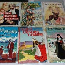 Libros de segunda mano: LIBROS. SANTOS, LOTE CON TERESA, CATALINA, PEDRO, IGNACIO, JUAN BAUTISTA, FERNANDO III. ED. VILAMALA. Lote 116731983