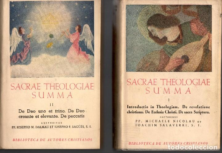 SACRAE THEOLOGIAE SUMMA VOL I-II Y IV (BAC 1952) (Libros de Segunda Mano - Religión)