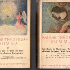 Libros de segunda mano: SACRAE THEOLOGIAE SUMMA VOL I-II Y IV (BAC 1952). Lote 116998439