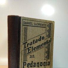 Libros de segunda mano: TRATADO ELEMENTAL DE PEDAGOGÍA CATEQUÍSTICA. LLORENTE, DANIEL. 1938. 4ª ED. AMPLIADA.. Lote 117266843