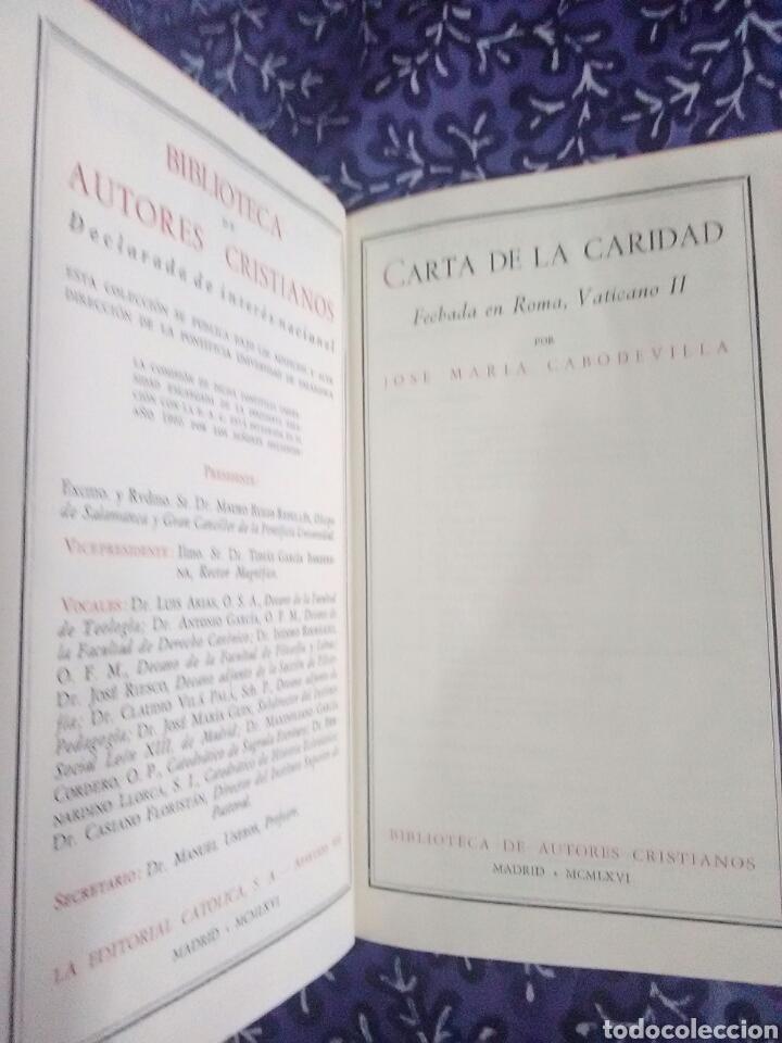 Libros de segunda mano: Carta de la Caridad. JM. Cabodevilla. BAC, nº 254. 1ª Ed. 1966. - Foto 2 - 117364234
