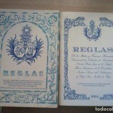 Libros de segunda mano: 2 LIBROS REGLAS.HERMANDAD NUESTRO PADRE JESUS DE LA SAUD. Lote 117417583