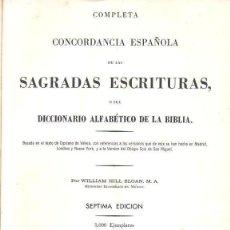Libros de segunda mano: SLOAN : COMPLETA CONCORDANCIA ESPAÑOLA DE LAS SAGRADAS ESCRITURAS (COSTA RICA, 1960). Lote 151192474