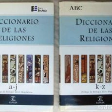 Libros de segunda mano: DICCIONARIO DE LAS RELIGIONES - ENRIQUE MIRET MAGDALENA - ABC / ESPASA 1998 - VER SUMARIO. Lote 117989451