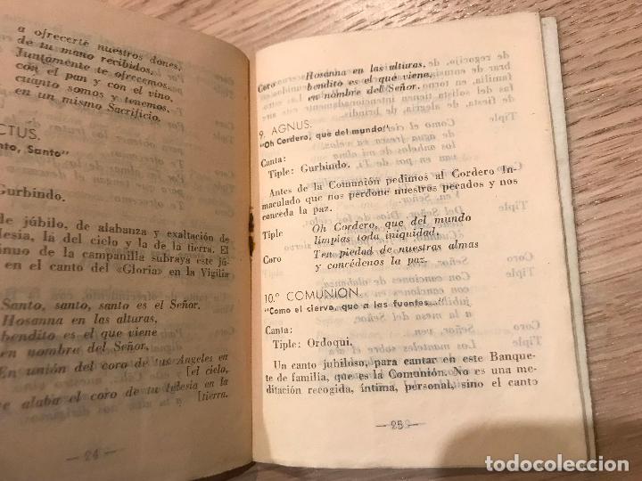 Libros de segunda mano: MISA COMUNITARIA (CORO A VOCES) Y CANTOS SAGRADOS PASTORALES. 1959. Discoteca Popular Catolica - Foto 2 - 118110439