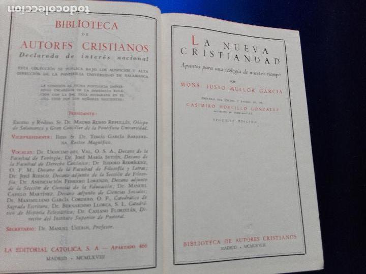 Libros de segunda mano: libro-la nueva cristiandad-justo mullor garcía-biblioteca de autores cristianos-1968 - Foto 4 - 118453919