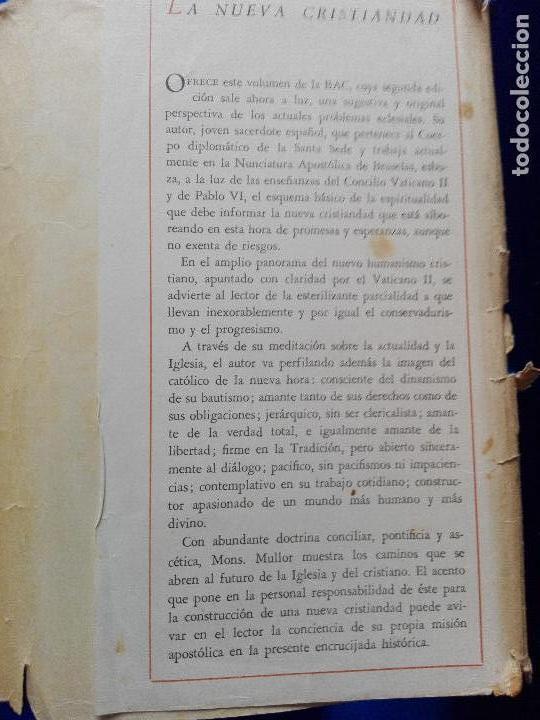 Libros de segunda mano: libro-la nueva cristiandad-justo mullor garcía-biblioteca de autores cristianos-1968 - Foto 13 - 118453919