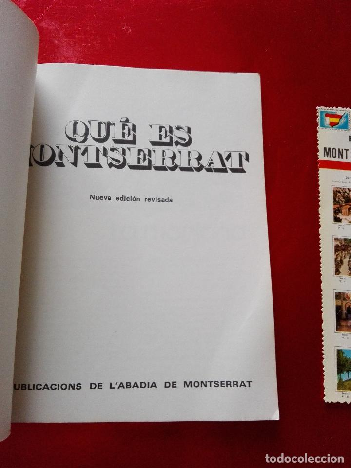 Libros de segunda mano: libro+postal-qué es monserrat.una montaña.un santuario.un monast...1974-buen estado-ver fotos - Foto 2 - 118677579
