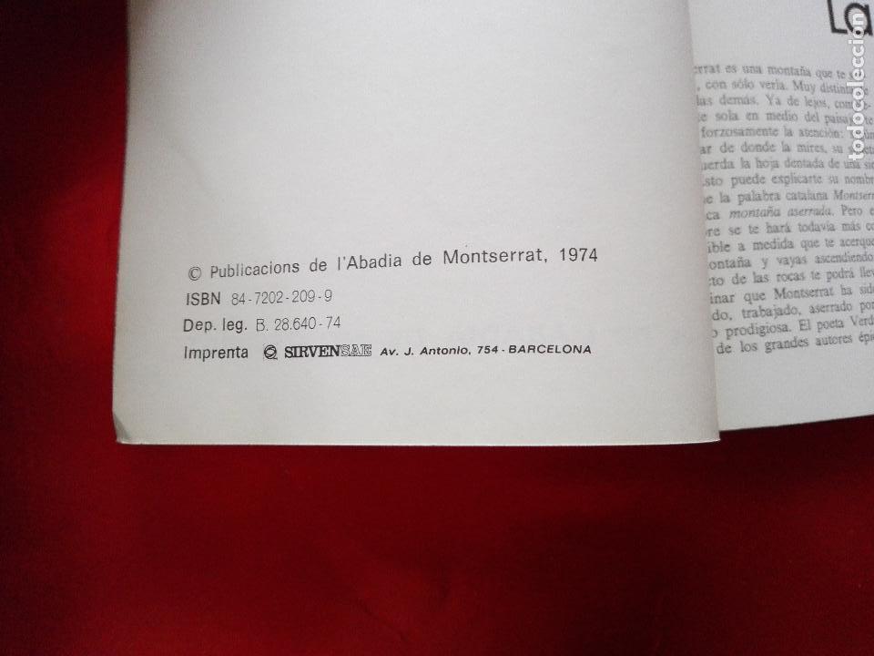 Libros de segunda mano: libro+postal-qué es monserrat.una montaña.un santuario.un monast...1974-buen estado-ver fotos - Foto 3 - 118677579
