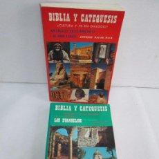 Libros de segunda mano: BIBLIA Y CATEQUESIS. ANTIGUO TESTAMENTO I Y NUEVO TESTAMENTO III. ANTONIO SALAS. VER FOTOGRAFIAS. Lote 118715307