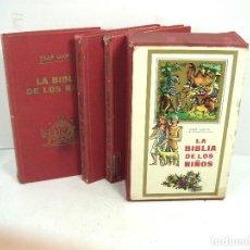 Livros em segunda mão: LA BIBLIA DE LOS NIÑOS - PIET WORM PLAZA & JANES 1973 3ª EDICION- 3 LIBROS TOMOS - CUBIERTAS - LIBRO. Lote 118843675