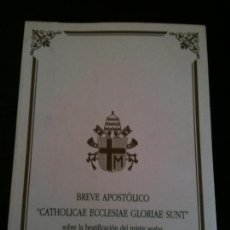 Libros de segunda mano: VICENTE VILAR DAVID,MARTIR ,BREVE APOSTOLICO 1997. Lote 118911187
