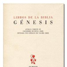 Libros de segunda mano: LIBROS DE LA BIBLIA. GÉNESIS. VERSIÓN DE CASIODORO DE REINA Y CIPRIANO DE VALERA. TURNER, 1980. Lote 120186103