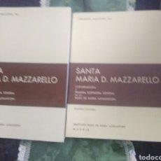 Libros de segunda mano: SANTA MARÍA D. MAZZARELLO, COFUNDADORA HIJAS DE MARÍA AUXILIADORA (SALESIANAS). 2 TOMOS. 1981.. Lote 120634895