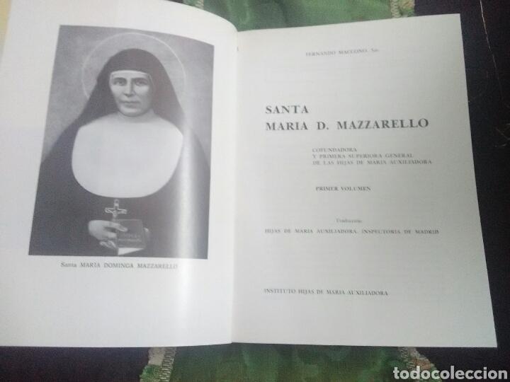 Libros de segunda mano: Santa María D. Mazzarello, Cofundadora Hijas de María Auxiliadora (Salesianas). 2 Tomos. 1981. - Foto 2 - 120634895