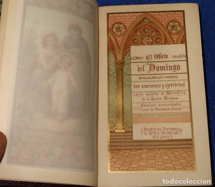 Libros de segunda mano: El oficio del domingo - devocionario - Instituto italiano de artes gráficas - Bergamo (1889) - Foto 4 - 120773603