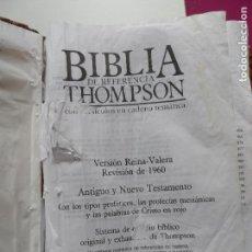 Libros de segunda mano: BIBLIA DE REFERENCIA THOMPSON CON VERSICULOS EN CADENA TEMATICA EN ESPAÑOS 1987. Lote 121555607