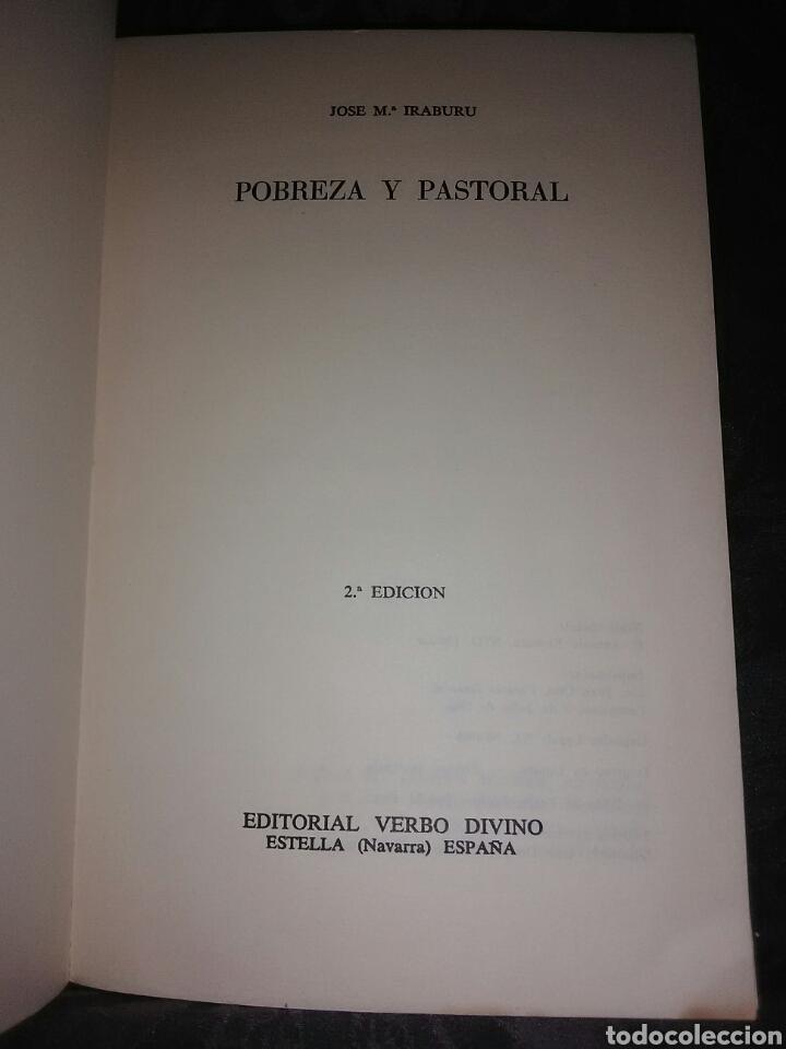 Libros de segunda mano: Pobreza y pastoral. JMª Iraburu. Verbo Divino, 1968. 2 ed. - Foto 2 - 121820783