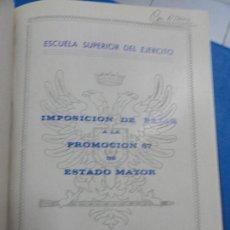Libros de segunda mano: CONFERENCIAS ESCUELA SUPERIOR DEL EJÉRCITO. Lote 121879931