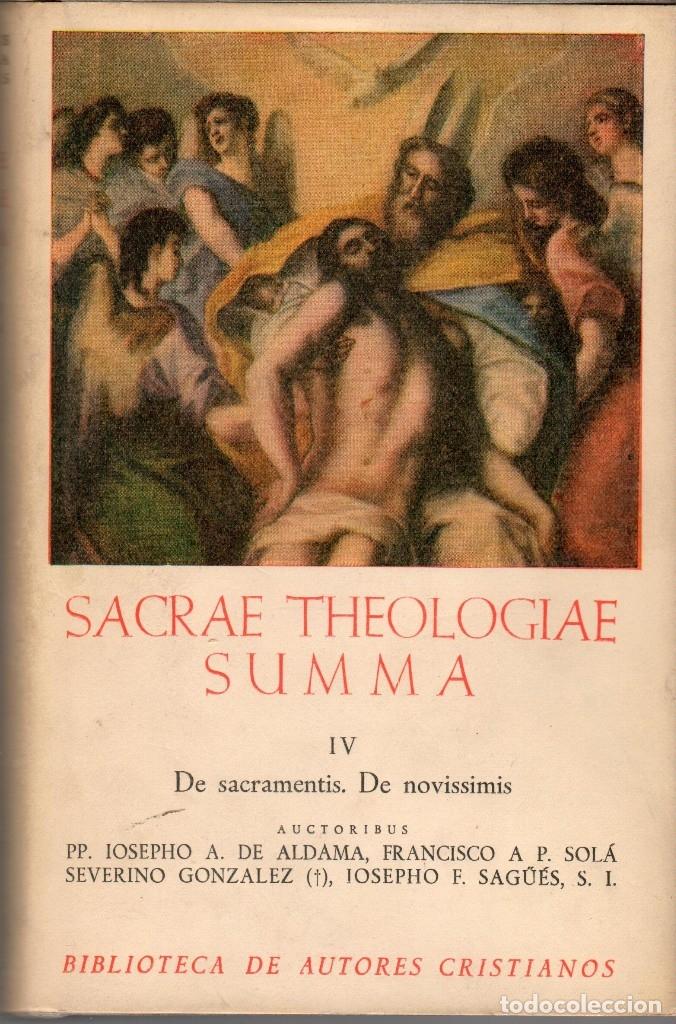 Libros de segunda mano: SACRAE THEOLOGIAE SUMMA VOL I-II y IV (BAC 1952) - Foto 2 - 116998439