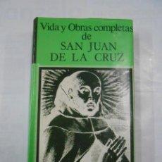 Libros de segunda mano: VIDA Y OBRAS COMPLETAS DE SAN JUAN DE LA CRUZ. BIBLIOTECA DE AUTORES CRISTIANOS. TDK346. Lote 160043756