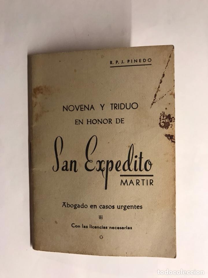 NOVENA Y TRIDUO A SAN EXPEDITO MÁRTIR (A.1959) (Libros de Segunda Mano - Religión)
