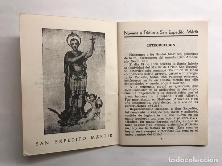 Libros de segunda mano: Novena y Triduo a San Expedito Mártir (a.1959) - Foto 2 - 122629535