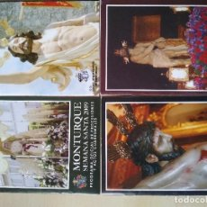 Libros de segunda mano: LIBROS DE MANO SEMANA SANTA MONTURQUE CORDOBA 2009 2010 2012 2014. Lote 123558999