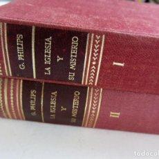 Libros de segunda mano: LA IGLESIA Y SU MISTERIO EN EL CONCILIO VATICANO II. TOMOS 1 Y 2. ED. HERDER 1968. TAPAS DURAS. Lote 245449310