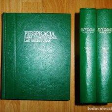 Libros de segunda mano: PERSPICACIA PARA COMPRENDER LAS ESCRITURAS / WATCH TOWER BIBLE AND TRACT SOCIETY OF PENNSYLVANIA.. Lote 126011835