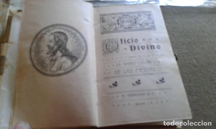 Libros de segunda mano: OFICIO DIVINO - TAPAS DE CELULOIDE - HOJAS CANTOS DORADOS AÑOS 40/50 - Foto 2 - 126830891