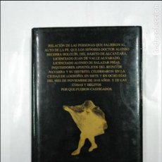 Libros de segunda mano: RELACION DE LAS PERSONAS QUE SALIERON AL AUTO DE LA FE... LOGROÑO 1610. MANUEL DE LAS RIVAS. TDK33. Lote 127661499