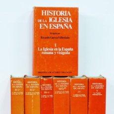 Libros de segunda mano: HISTORIA DE LA IGLESIA EN ESPAÑA. DIRIGIDA POR RICARDO GARCÍA-VILLOSLADA [7 TOMOS, COMPLETA]. Lote 127819904