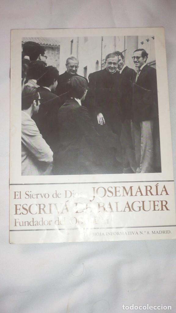 JOSÉ MARIA ESCRIVÁ DE BALAGUER - FUNDADOR DEL OPUS DEI (Libros de Segunda Mano - Religión)