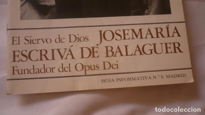 Libros de segunda mano: José Maria Escrivá de Balaguer - fundador del Opus Dei - Foto 2 - 127953247