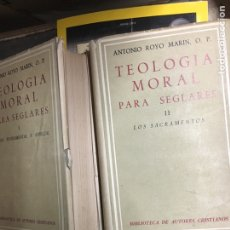 Libros de segunda mano: TEOLOGÍA MORAL PARA SEGLARES. Lote 128262415