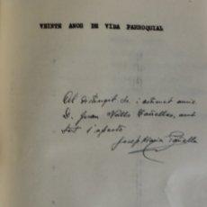 Libros de segunda mano: VEINTE AÑOS DE VIDA PARROQUIAL [HISTÒRIA DE LA PARRÒQUIA DE LA MARE DE DÉU DEL ROSER DE BARCELONA]. Lote 123268186