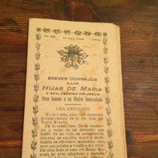 Libros de segunda mano: ANTIGUOS FOLLETO RELIGIOSO BREVES CONSEJOS A LAS HIJAS DE MARIA I STA. TERESA DE JESUS AÑO 1939. Lote 128792835