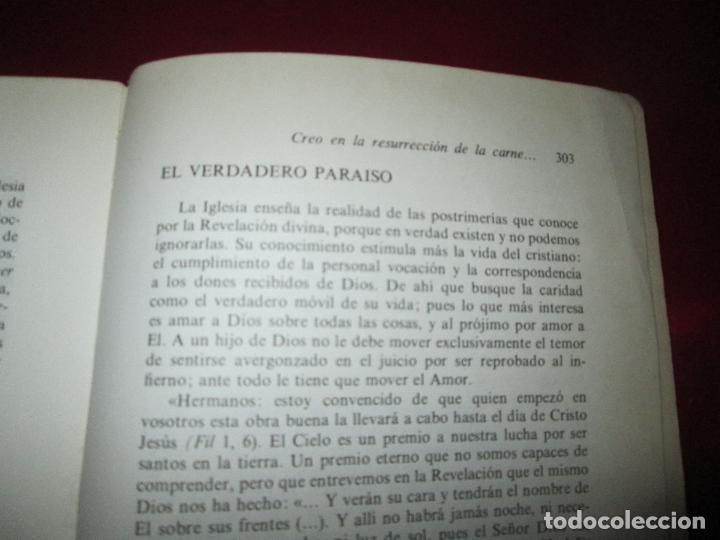 Libros de segunda mano: libro-palabras de vida eterna-charlas sobre el credo.jesús ortiz-Ed.Magisterio español-1981 - Foto 12 - 129694039