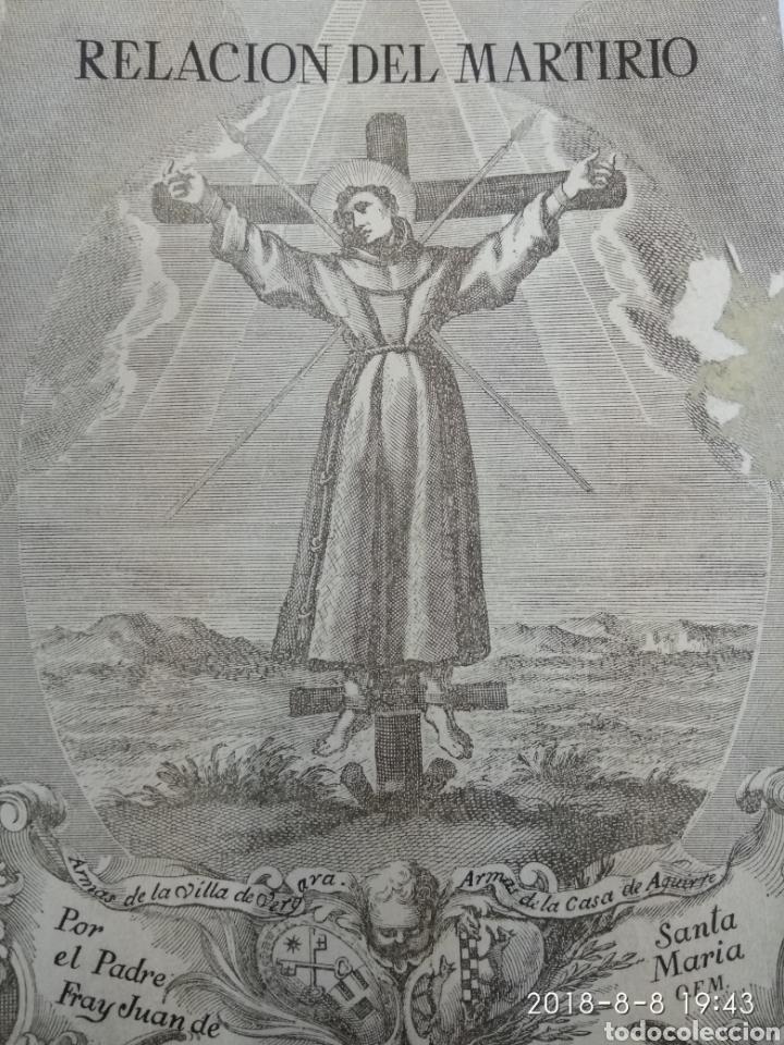RELACION DEL MARTIRIO FRAY JUAN DE SANTA MARIA 1966 FRANCISCOS Y JESUITAS EN JAPON (Libros de Segunda Mano - Religión)