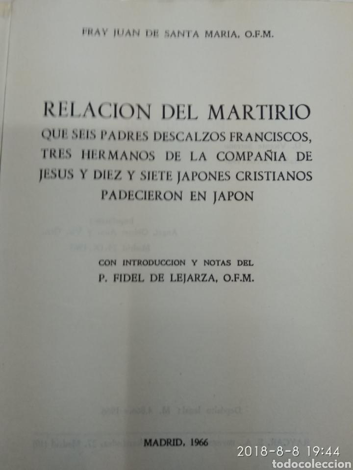 Libros de segunda mano: RELACION DEL MARTIRIO FRAY JUAN DE SANTA MARIA 1966 FRANCISCOS Y JESUITAS EN JAPON - Foto 5 - 130350994