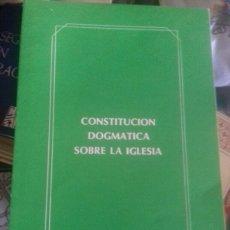 Libros de segunda mano: LUMEN GENTIUN, CONSTITUCIÓN DOGMÁTICA DE LA IGLESIA. Lote 131028713