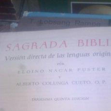 Libros de segunda mano: SAGRADA BIBLIA, ELOÍNO NÁCAR FUSTER, ALBERTO COLUNGA. Lote 131688874