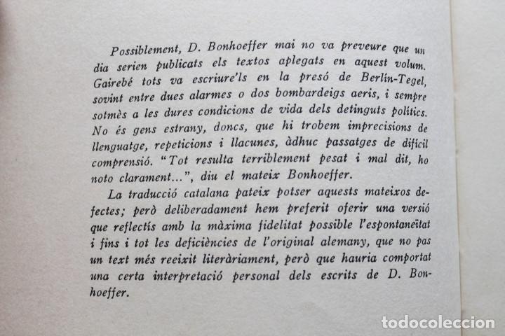 Libros de segunda mano: Dietrich Bonhoeffer - Resistència i submissió. Lletres i apunts de captivitat - Llibres del Nopal - Foto 4 - 131796302