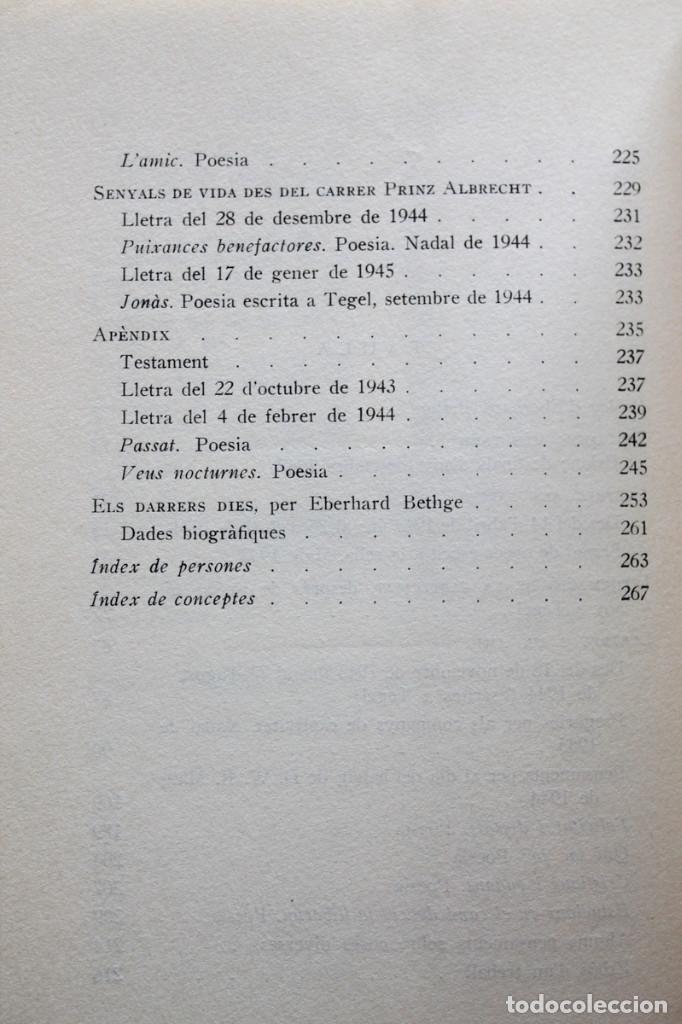 Libros de segunda mano: Dietrich Bonhoeffer - Resistència i submissió. Lletres i apunts de captivitat - Llibres del Nopal - Foto 7 - 131796302