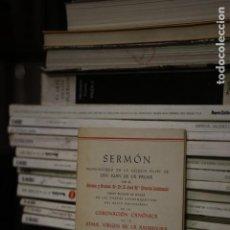 Libros de segunda mano: SERMÓN PRONUNCIADO EN LA IGLESIA FILIAL DE SAN JUAN DE LA PALMA. JOSÉ MARÍA CIRARDA LACHIONDO. Lote 132360098