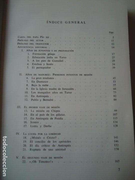 Libros de segunda mano: LIBRO. SAN PABLO, HERALDO DE CRISTO, DE JOSEF HOLZNER, 1961.EDICIÓN CORREGIDA Y AUMENTADA. - Foto 5 - 132774710